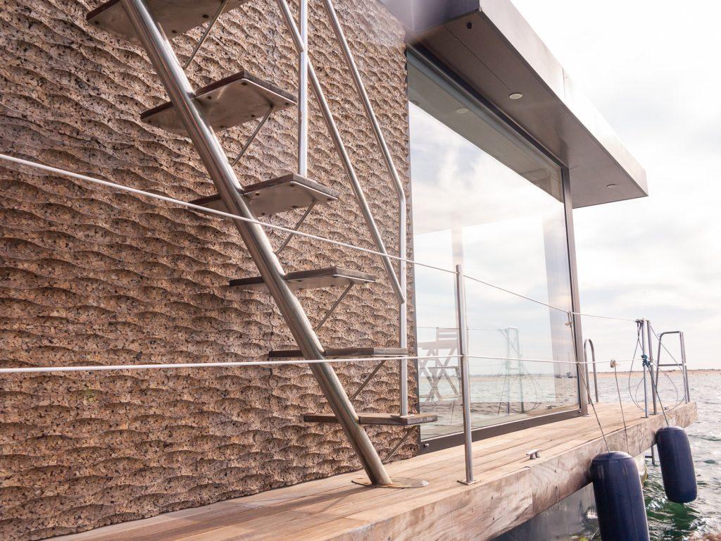 Casas da Ria escada estibordo para rooftop